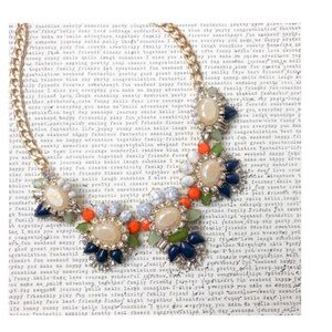 Marble Navy Green Orange Necklace
